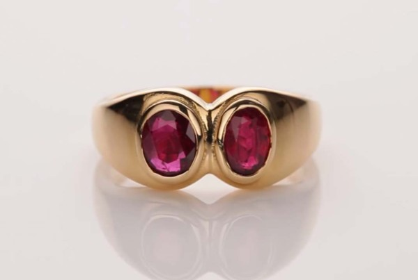 Ruby Ring Set in Gold
