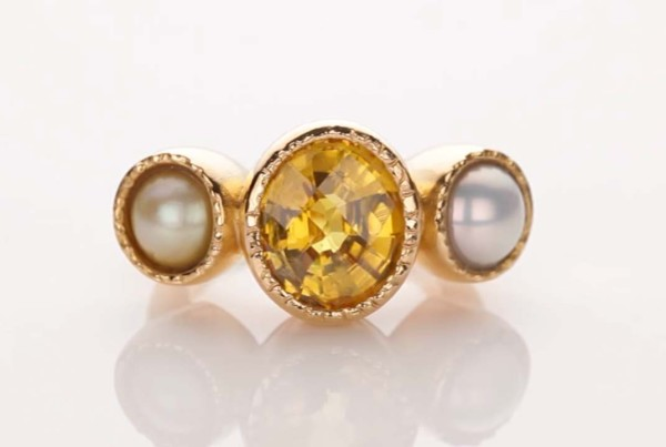 Pearl and Yellow Sapphire Ring