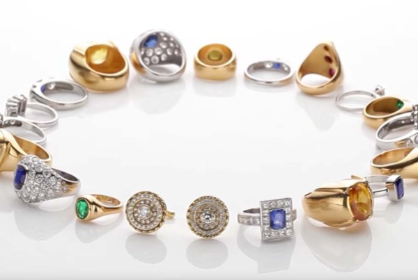 Collection of Ruby, Pearl, Coral, Yellow Sapphire, Diamond, Blue sapphire and Cat's eye Emerald