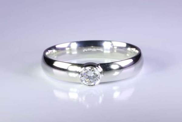 Diamond Rings Set in Platinum for Men - Flat Band and Ladies Court Band