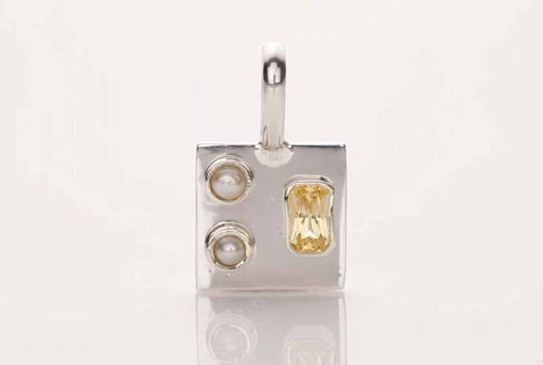 Pearl and Yellow Sapphire Pendant