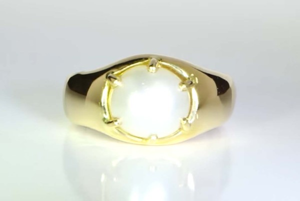 Real Salt Water Pearl Ring in Gold