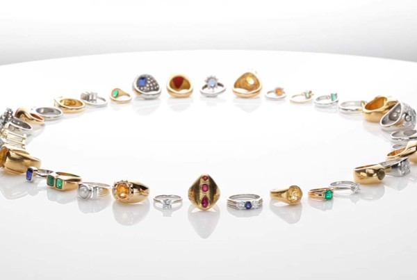 Collection Of Precious Gemstones Jewels and Rings v3