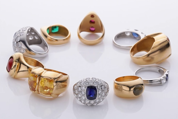 Collection of Precious Gemstones Jewels and Rings v2