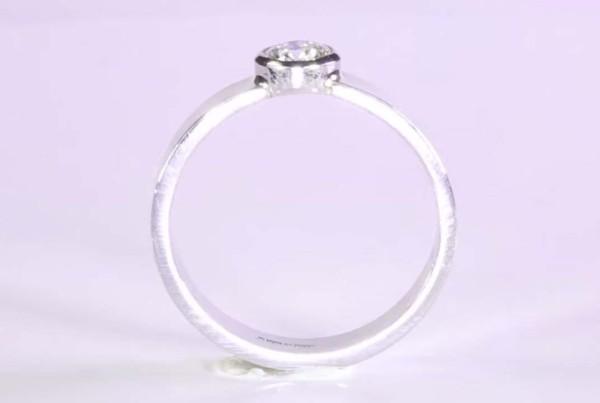 Diamond Ring Set in Platinum