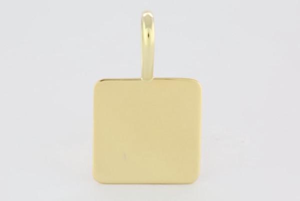 2 Fine Gold Square Pendant