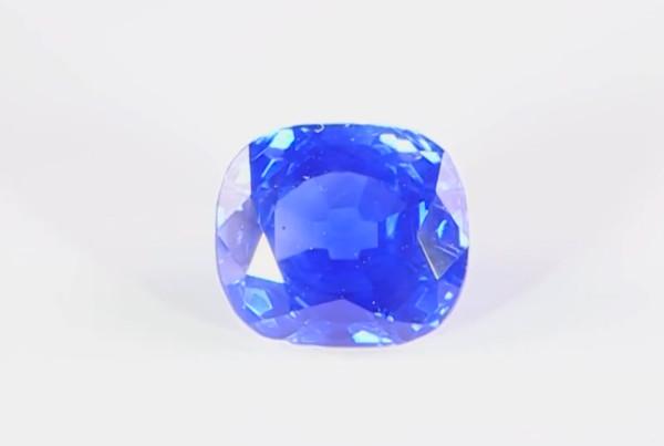 Blue Sapphire Cushion Shape