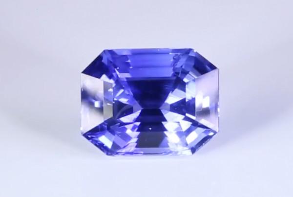 Blue Sapphire Em Cut