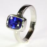 Blue sapphire in Platinum Ring