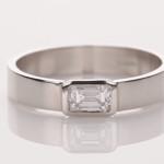 Diamond Em Cut In Platinum Ring