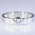 Diamond In Platinum Flat Ring