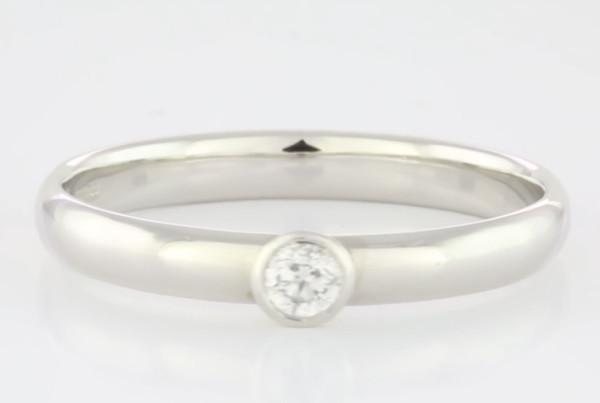 Diamond Set In Platinum Ring