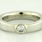Diamond Set In White Gold Ring