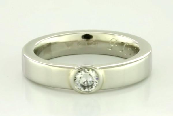 Diamond Set In White Gold Ring