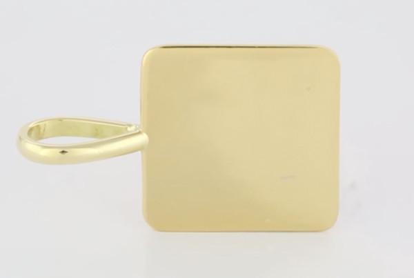 Fine Gold Square Pendant