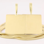 Fine Gold Square Pendants And Gold Chain Cure