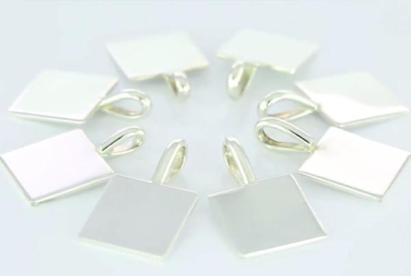 Fine Silver Square Pendants