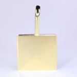 Gold Square Pendant Cure