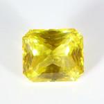 Golden Yellow Sapphire Em Cut Shape Loose Stone copy