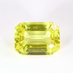 Golden Yellow Sapphire Em Cut Shape Loose Stone copy 2