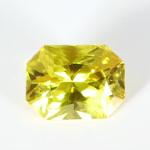 Golden Yellow Sapphire Em Cut Shape Loose Stone