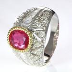 Ruby Diamonds Ring