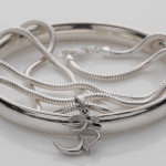 Silver Bangle Without Joint And Aum With Silver Chain Cure