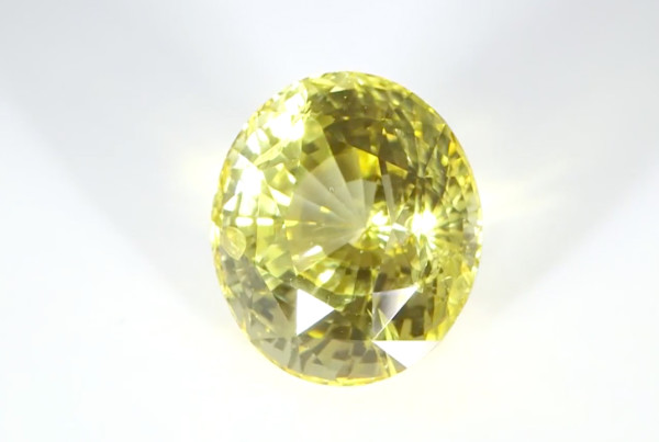 Yellow Sapphire Oval Shape Loose Stone