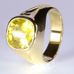 Yellow Sapphire Oval Shape Set In Gold Ring