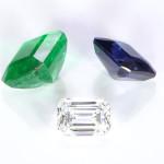 Blue Sapphire, Emerald And Diamond