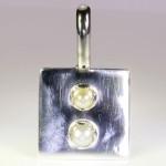 Real Salt Water Pearls Set In Silver Pendant