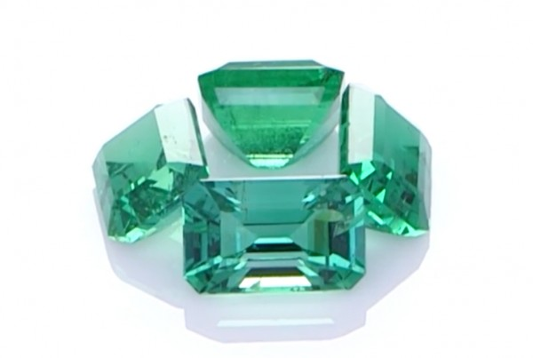 Four Green Emeralds