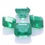 Four Green Emeralds