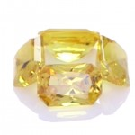 Four Yellow Sapphires