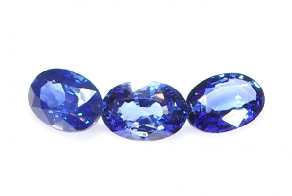 Three Blue Sapphires