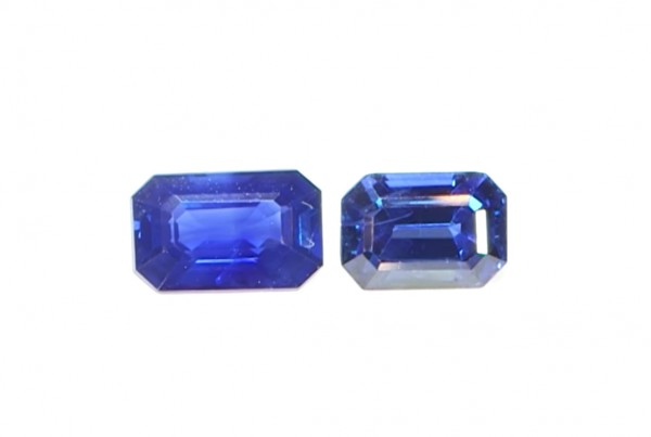 Two Blue Sapphires