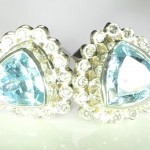 Aquamarines And Diamonds Cufflinks Bespoke Design In Platinum