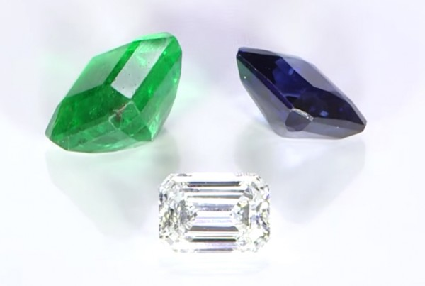 Blue Sapphire, Emerald And Diamond