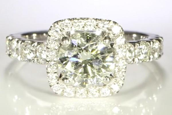 Diamond Ring Surrounding A Platinum Ring