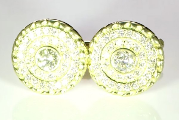 Diamonds Cufflinks Bespoke Design In Gold