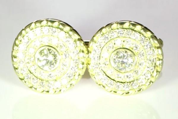 Diamonds Cufflinks Bespoke Design In Gold