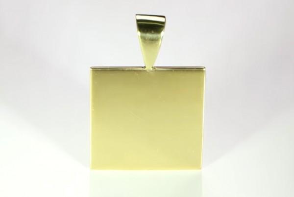 Fine Gold Square Pendant Cure