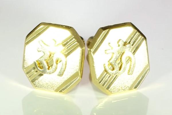 Gold Aum Cufflinks