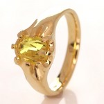 Golden Ring With A Golden Yellow Sapphire