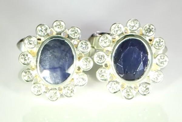 Rubies And Diamonds Cufflinks Bespoke Design In Platinum