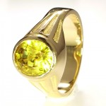 Yellow Sapphire in A Golden Ring