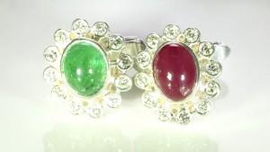 Yellow Sapphires And Diamonds Cufflinks Bespoke Design In Silver